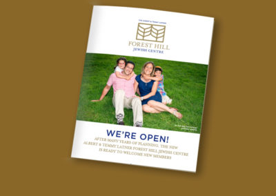 Forest Hill Jewish Centre Membership Brochure