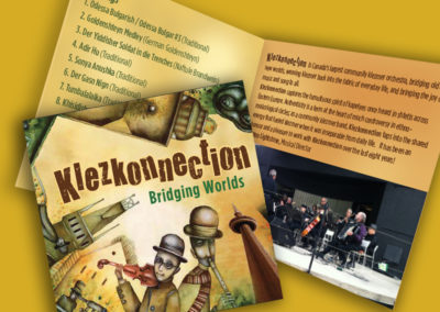 Klezkonnection CD Cover and Brochure