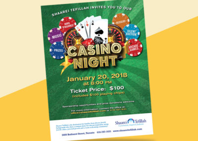 Shaarei Tefillah Congregation's CasinoNight